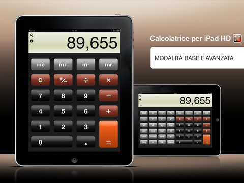 calcolatrice per ipad