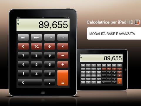 calcolatrice per ipad