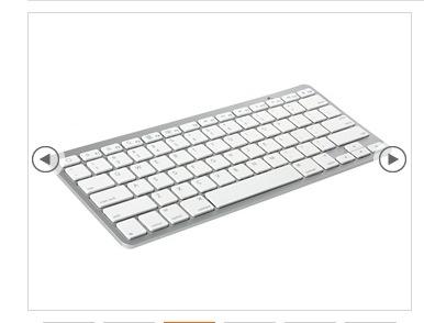Angolo del risparmio tastiera wireless in stile apple per - Tastiera del letto ...