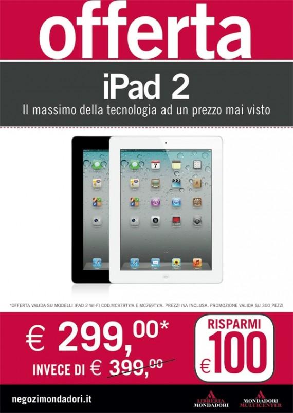 Da Mondadori disponibili iPad 2 da 16GB a 299€ - iPad