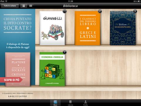 Biblioteca del corriere della sera tanti libri da poter for Libri da acquistare on line