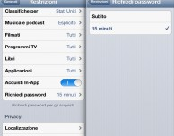 Disabilitare gli acquisti in-app su iPad