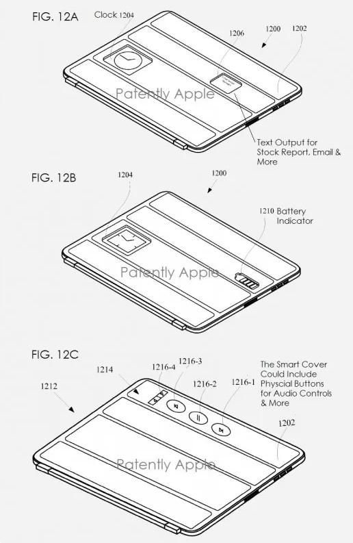 Apple brevetta una smart cover con pulsanti soft touch
