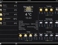 Previsioni meteo su iPad con Temps mobile