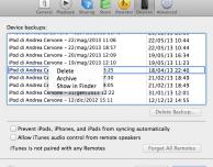 Come archiviare un vecchio backup su iTunes del nostro iPad per utilizzarne uno nuovo – Guida