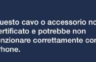 iOS 7: bloccato l'uso di cavi Lightning non certificati
