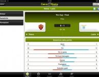 Calcio in Diretta: tutte le news e gli aggiornamenti del calcio suo tuo iPad