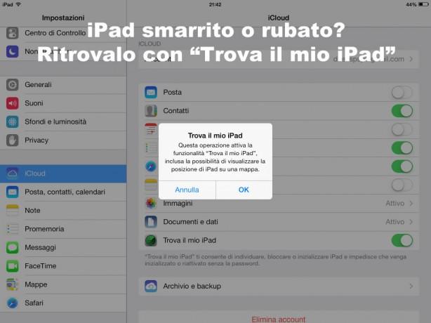 Trovare iPad rubato pic1