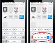 """Usare il tasto """".com"""" su iPad e iOS 7"""
