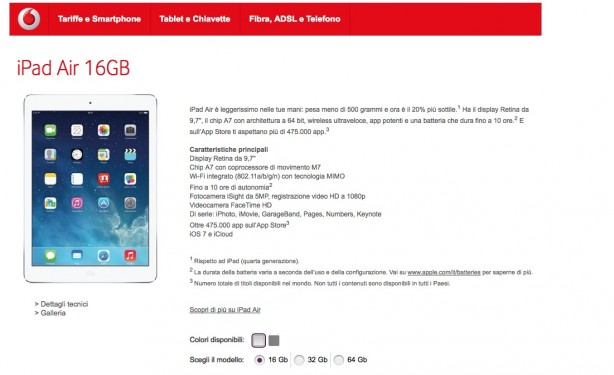 ipad air vodafone