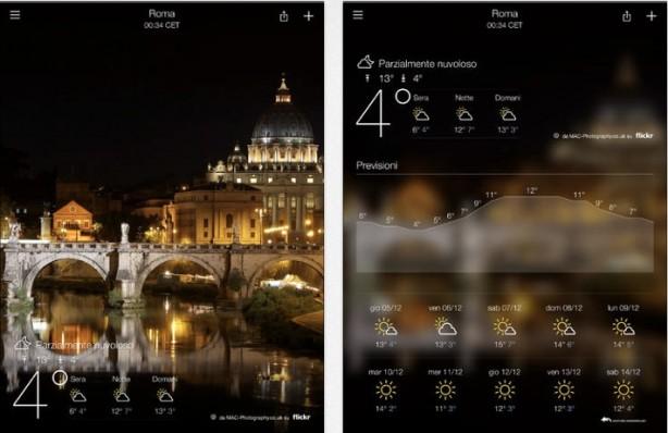 Yahoo Meteo iPad pic0