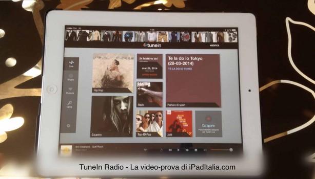 TuneIn Radio - La video-prova di iPadItalia.com