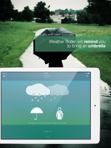 Weather Butler iPad pic0