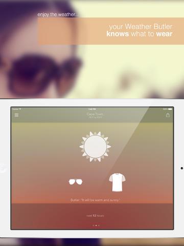 Weather Butler iPad pic1