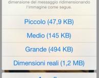 Ridurre il peso delle immagini su iOS? Si, con Mail