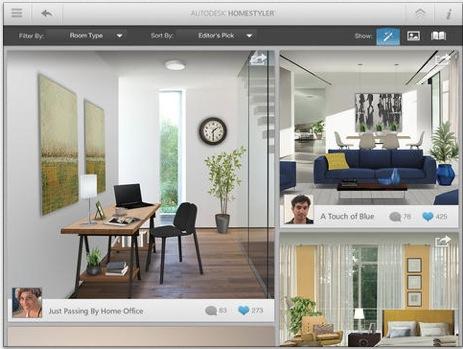 Autodesk homestyler si aggiorna con tante novit iphone for Designer interni famosi