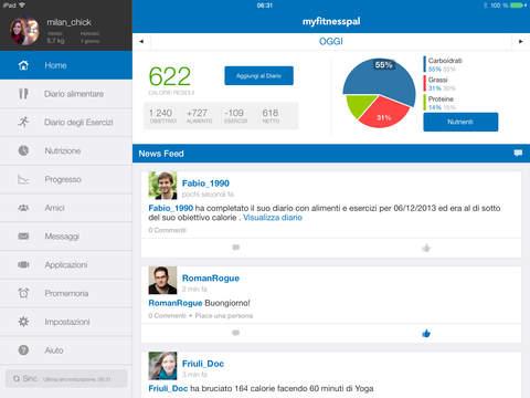 MyFitnessPal iPad pic0