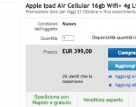 iPad Air 16GB LTE offerto a 399€!
