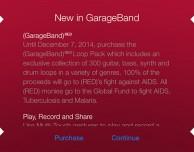 Garageband: nuovo update con pacchetto (RED)