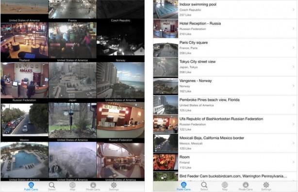 IP Camera Viewer: le webcam del mondo visionabili dal tuo iPad