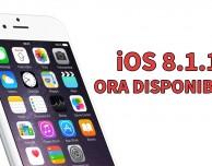 iOS 8.1.1 ora disponibile per iPhone, iPad e iPod touch