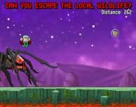 Fuggi da ragni giganti in Moon Rush