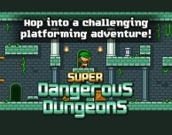 Super Dangerous Dungeons: jump and run in stile retro
