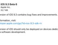 iOS 9.3 beta 6 disponibile per il download