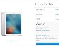 Il nuovo iPad Pro da 9.7 pollici è disponibile in Italia
