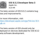 iOS 9.3.2 beta 3 ora disponibile!