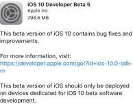 Disponibile iOS 10 beta 5 per sviluppatori