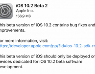 Disponibile iOS 10.2 Beta 2 per sviluppatori!