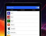TV Italia PRO!, l'app per guardare i canali italiani su iPad