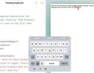 Swift Playground si arricchisce di una nuova Floating Keyboard su iPad!
