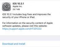 Apple rilascia iOS 10.3.1 per tutti gli utenti