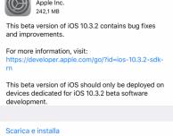 Disponibile iOS 10.3.2 beta 4 per iPad