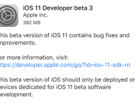 iOS 11 beta 3 ora disponibile per il download