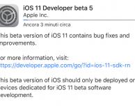 iOS 11 beta 5 è disponibile per il download