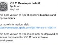 iOS 11 Beta 6 per sviluppatori è ora disponibile per il download