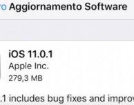 Disponibile iOS 11.0.1 per iPad