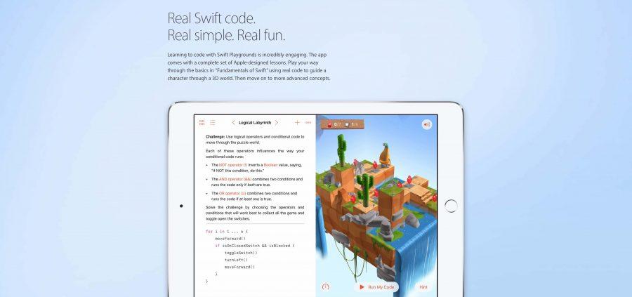 Apple aggiorna Swift Playgrounds per iPad