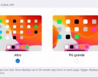 Come regolare la dimensione delle icone su iPad