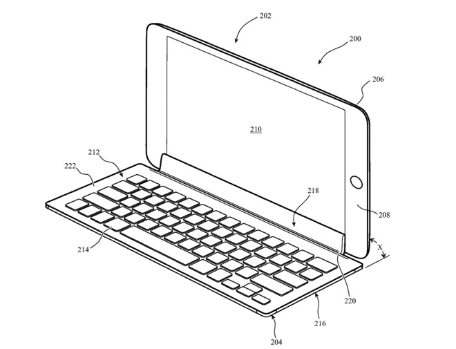 brevetto ipad tastiera