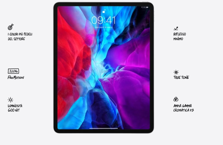 display ipad pro 2020